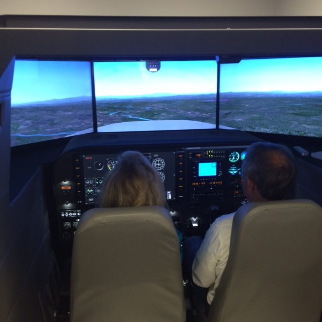 Aircraft Simulator on Approach