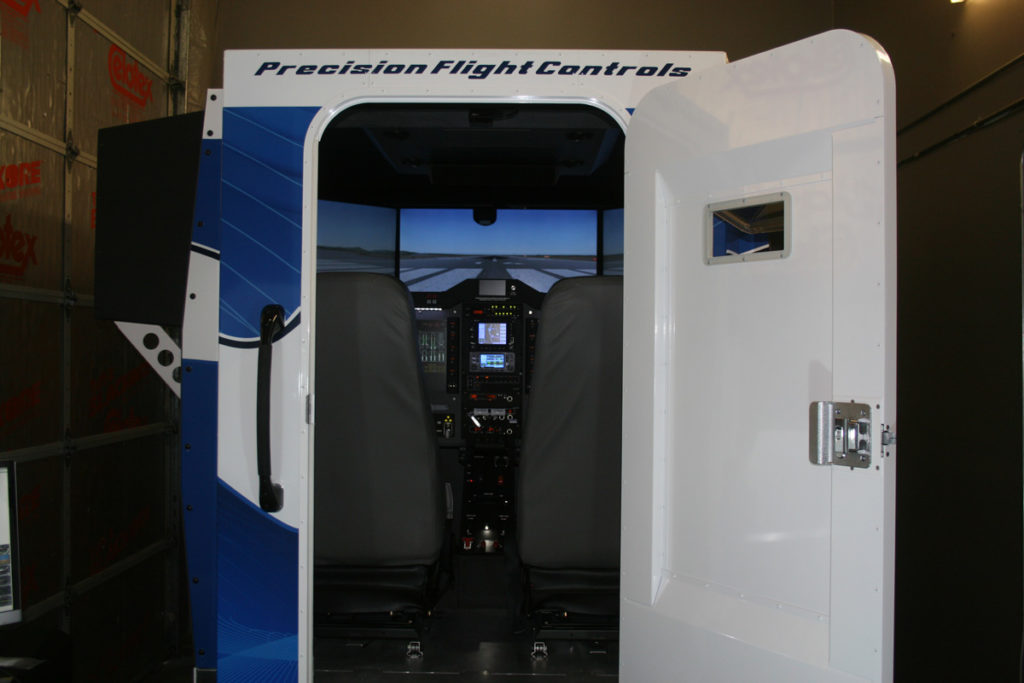 Precision Flight Controls Aircraft Simulator