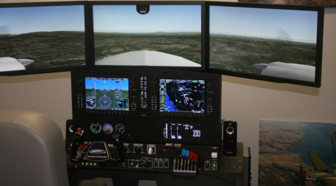 G1000 Training in Simulator
